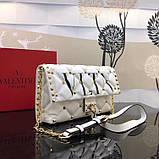 Сумка, клатч от Валентино модель Candystud натуральная кожа, цвет белый, фото 5