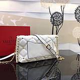 Сумка, клатч от Валентино модель Candystud натуральная кожа, цвет белый, фото 6