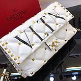 Сумка, клатч от Валентино модель Candystud натуральная кожа, цвет белый, фото 9