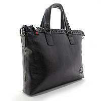 Портфель-сумка кожаная для документов, папка черная Gucci 1104-1, фото 1