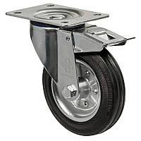 Колеса поворотные с крепежной панелью и тормозом Диаметр: 140мм. Серия 31 Norma , фото 1