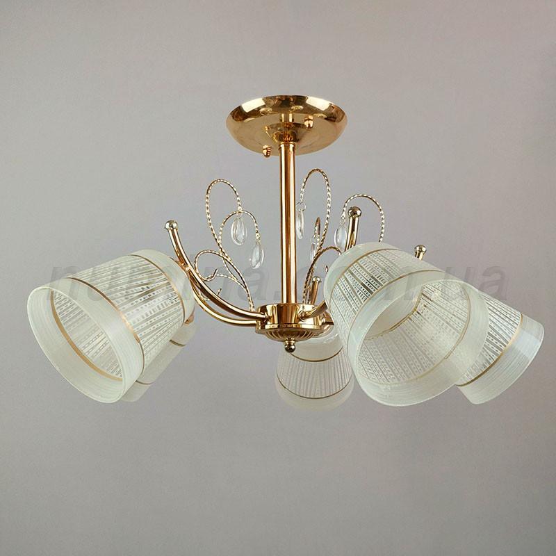 Люстра потолочная на пять лампочек 11824/5FGD