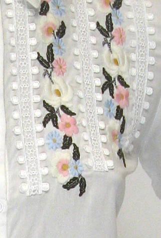 Жіноча блузка сорочка з вишивкою і бісером , фото 2