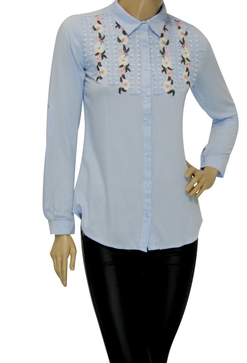 Жіноча блузка сорочка з вишивкою і бісером Туреччина