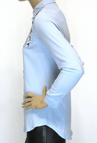 Жіноча блузка сорочка з вишивкою і бісером Туреччина, фото 2