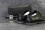 Мужские туфли Vankristi (черные) кожа, фото 2