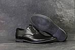 Мужские туфли Vankristi (черные) кожа, фото 3