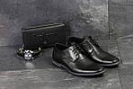 Мужские туфли Vankristi (черные) кожа, фото 6