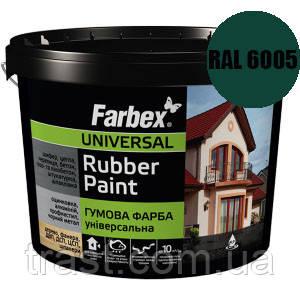 Краска резиновая для крыш зеленая FARBEX RAL 6005 12 кг