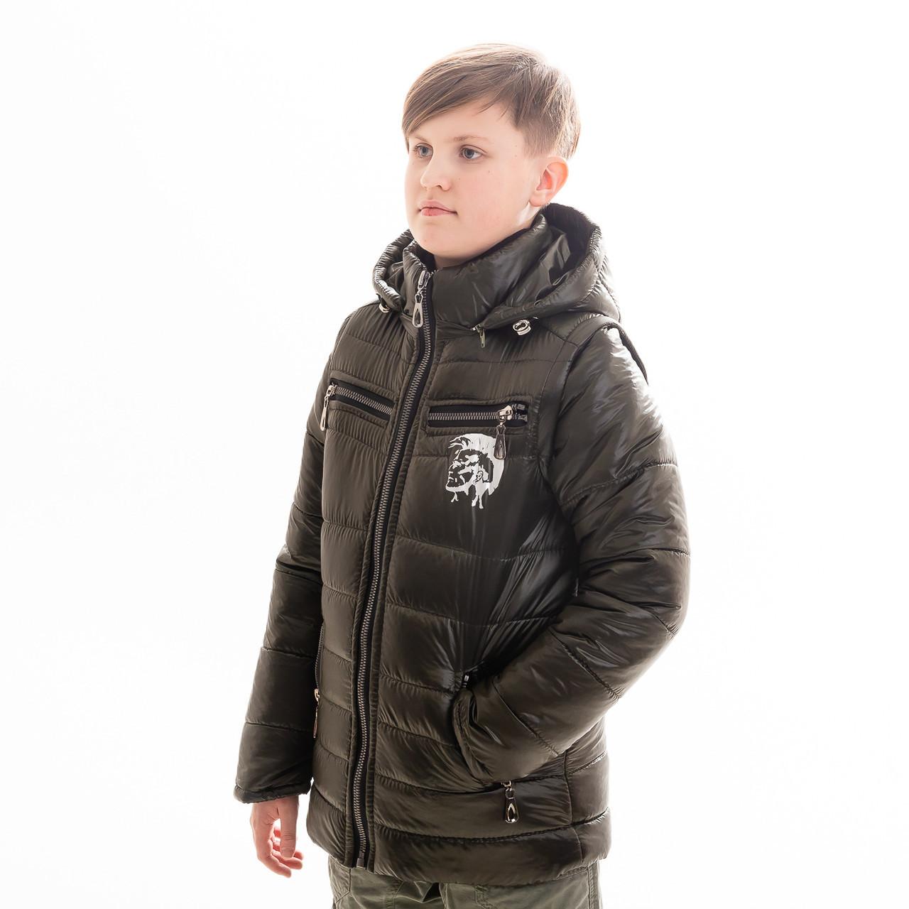 """Куртка - жилет для мальчика демисезонная """"Дизель"""", размеры на рост 128 - 158"""