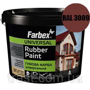 Краска резиновая для крыш красно-коричневая FARBEX RAL 3009 12 кг