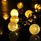 Светодиодная гирлянда шарики-пучок LED 100 GR107, фото 2