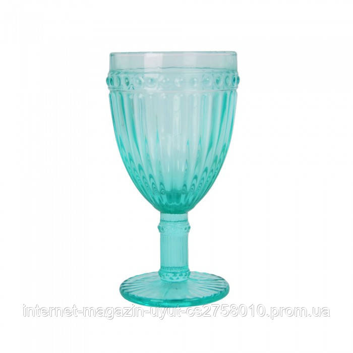 "Набор 6 бокалов для вина ""Reference"" 375мл бирюзовое стекло"