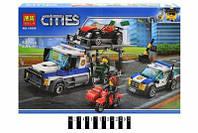 """Конструктор """"CITIES"""" 10658 """"Пограбування вантажівки""""  427дет.  р.41*28*7см."""