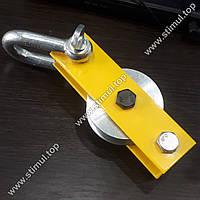 Блок стальной монтажный 500 кг (0.5 т) с подшипником для подъема груза Ø 56 мм РОЗНИЦА