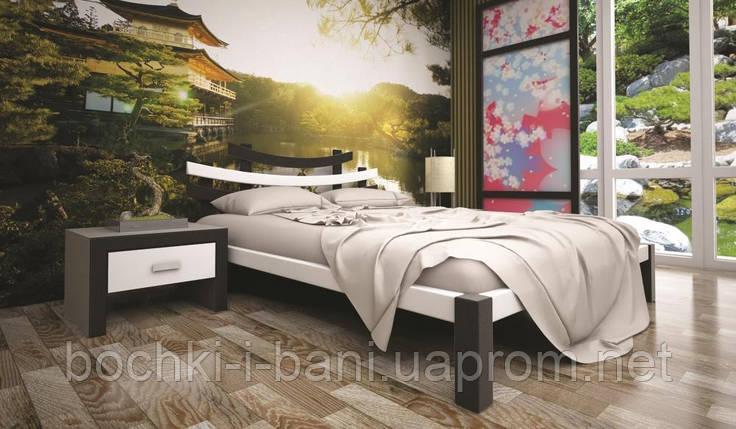 Кровать ТИС САКУРА 2 160*200 дуб, фото 2