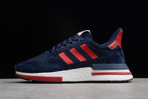 """Кроссовки Adidas ZX 500 RM """"Синие/Красные"""""""