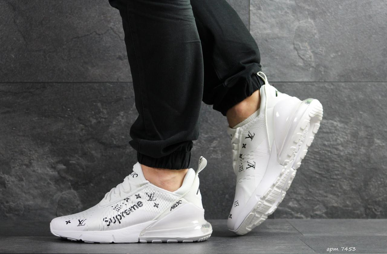 Мужские кроссовки Nike Air Max 270 x Supreme (белые)