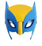 Классическая маска Росомахи из комиксов! Маска Логана, детская по комиксам! Светящаяся маска