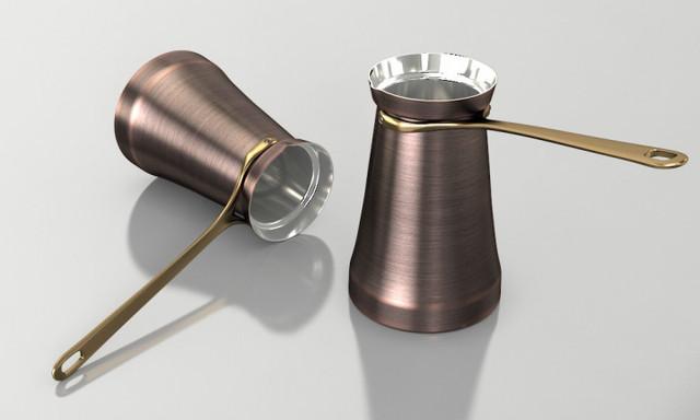 Турка (Джезва) для кофе 200 мл. Патина ZH