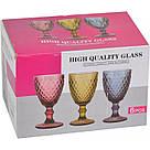 "Набор 6 бокалов для вина ""Rhombus small"" 320мл фиолетовое стекло, фото 2"