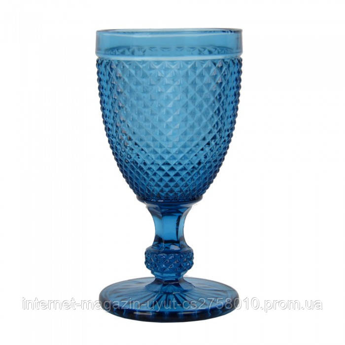 """Набор 6 бокалов для вина """"Versailles"""" 250мл синее стекло"""
