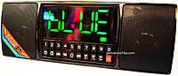 Часы, будильник, Bluetooth стерео колонка WS-1515 BT c USB, MicroSD и FM