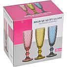 "Набор 6 бокалов для шампанского ""Ornament"" 150мл синее стекло, фото 2"