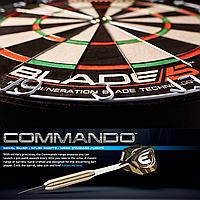 Дартс мишень Blade 5 Winmau + дротики Commando