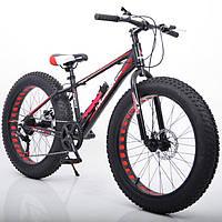 """Велосипед Hammer S-800 Extrime Fatbike 26"""" дюймов (черно - красный)"""