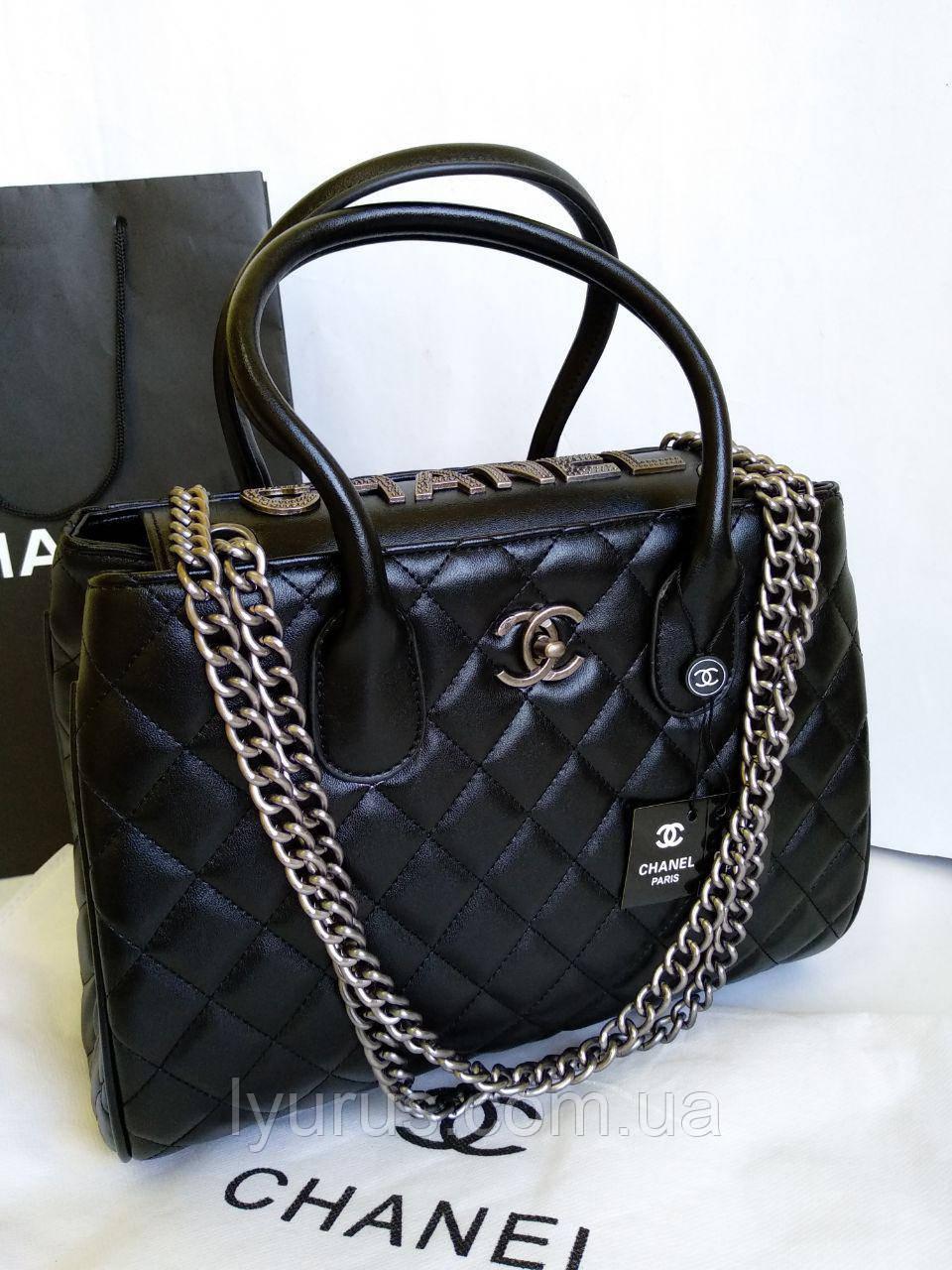 Женская сумка в стиле Шанель стеганная
