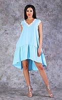 960608cdc47 Женское летнее платье свободного кроя (голубое) Poliit № 8588
