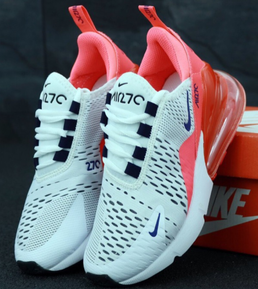 Женские кроссовки Nike Air Max 270 White Pink