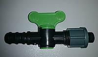 Кран - стартер для соединения капельной трубки и ленты