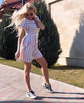 """Льняное летнее мини-платье в полоску """"Harman"""" с коротким рукавом (3 цвета), фото 3"""