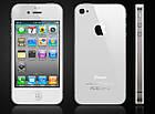 Смартфон Apple iPhone 4S 16gb Оригинал Neverlock White + стекло , фото 2