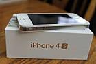 Смартфон Apple iPhone 4S 16gb Оригинал Neverlock White + стекло , фото 4