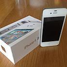 Смартфон Apple iPhone 4S 16gb Оригинал Neverlock White + стекло , фото 5
