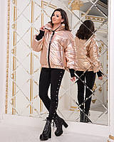 Куртка женская / плащевка, холофайбер / Украина 47-2234, фото 1