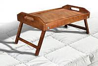 Столик для завтрака деревянный 250 х 550 х 350, массив ольха, цвет светлый орех