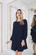 """Короткое шифоновое платье-трапеция """"Katherine"""" с длинным рукавом (3 цвета), фото 2"""