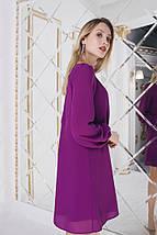 """Короткое шифоновое платье-трапеция """"Katherine"""" с длинным рукавом (3 цвета), фото 3"""
