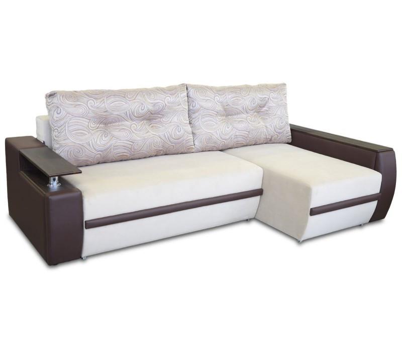 Диван угловой еврокнижка «Мустанг Мини» с подушками от «Гуливера» от МВС
