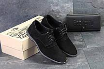 Туфли мужские замшевые классические VanKristi Black , фото 3