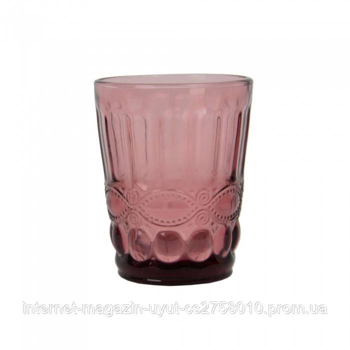 "Набор 6 стаканов ""Ornament"" 250мл фиолетовое стекло"