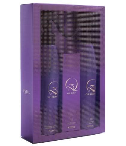 Набір Q3 OIL RICH від Estel для екранування волосся (con/300ml + oil/100ml + oil/300ml)