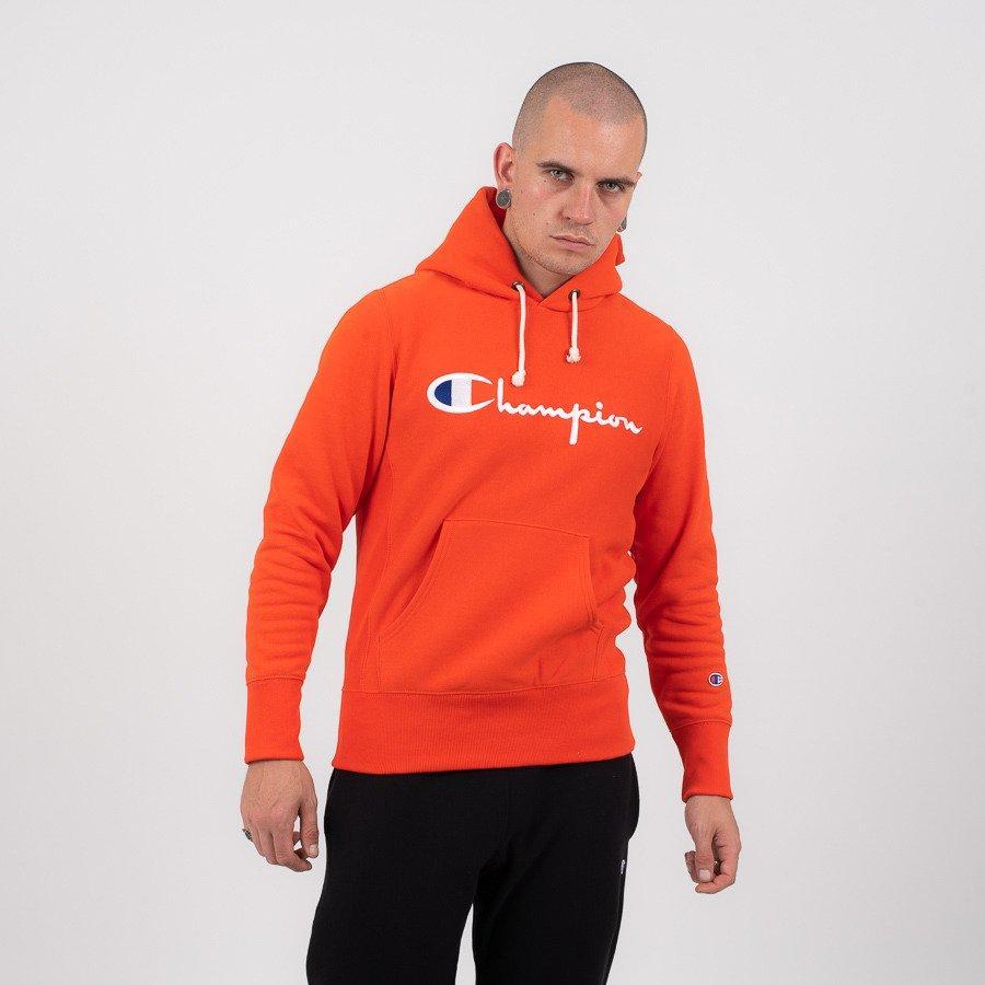 Толстовка оранжевая чемпион Champion худи|Оригинальная бирка
