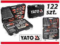 Набор головок ключей инструментов 122 елемен. Yato YT-38901 Польша Набір головок ключів Інструмент професійний