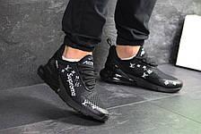 Модные кроссовки Nike air max 270 x Supreme, черные, фото 3