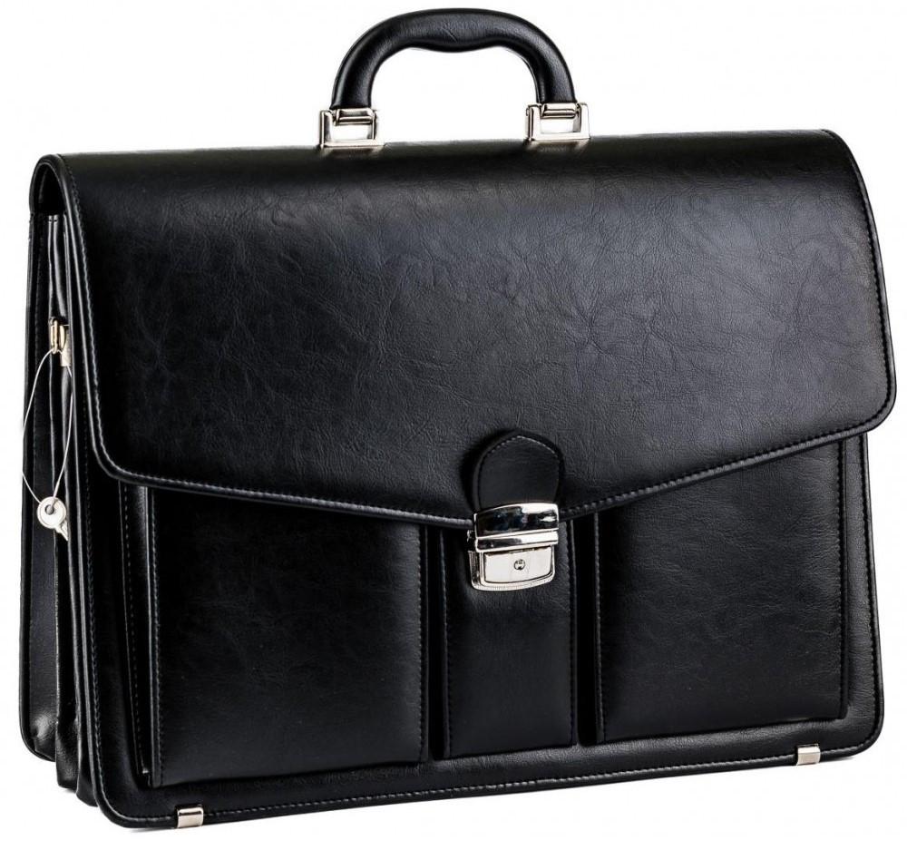 Портфель классический из эко кожи AMO SST02 чёрный